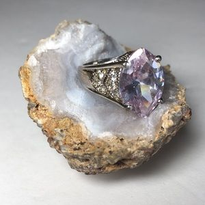 925 Sterling Amethyst Colored Stone Ring Sz8